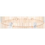 Bracelet Génèse - Diamants Bruts - or blanc et or rose 9 carats