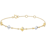buy Bracelet Genesis - Rough diamonds - two golds - five motives