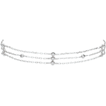 bijouteries Bracelet Grâce or blanc