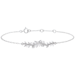 vente Bracelet Jardin Enchanté - Feuillage Royal - or blanc et diamants - 18 carats