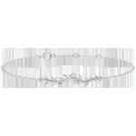 cadeau Bracelet Jardin Enchanté - Feuillage Royal - or blanc et diamants - 9 carats