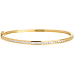 Bracelet Jonc barrette 25 diamants - 0.75 carats - 25 diamants - or jaune 18 carats