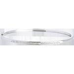 cadeaux Bracelet Jonc or blanc 18 carats Diorama barrette diamants - 11 diamants