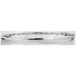 Bracelet Jonc Saturne Diamant - or blanc 18 carats