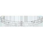 mariages Bracelet or blanc Grâce - 13 diamants