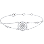 gift woman Bracelet Salty Flower - circle - white gold and diamonds