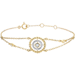 gift women Bracelet Salty Flower - circle - yellow gold and diamonds