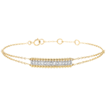 present Bracelet Salty Flower - two rings - Yellow Gold - 9 carat