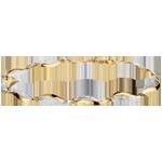 bijoux or Bracelet Torsade - 22 diamants - or blanc et or jaune 18 carats