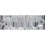mariage Bracelet Torsade or blanc - 22 diamants