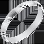 Braided White Gold Wedding Ring