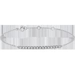 Brăţară aur alb de 9K Strălucire - 15 diamante