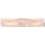 Brăţară fixă Junglă Sacră - diamante - aur roz de 9K cu lustru periat