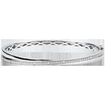 Brăţară fixă Saturn Duo - diamante - aur alb de 9K