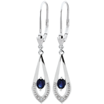 gold jewelry Britanie Sapphire Earrings
