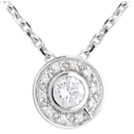 buy Button Pendant white gold - 0.25 carat