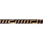 Cadena alternada barra oro amarillo 42 cm