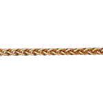 Cadena de malla espiga oro amarillo - 42 cm - 9 quilates