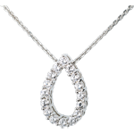 Caprice necklace white gold - 1.05 carat - 16 diamonds