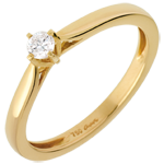 buy Carriage Solitaire Ring - diamond 0.11 carat - yellow gold