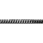 Catena a maglia barbazzale - Oro bianco sottile - 18 carati - 42 cm