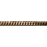 Catena a maglia barbazzale - Oro giallo sottile - 18 carati - 42 cm