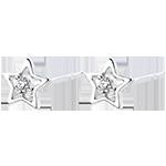 Cercei Abundenţă - Steaua Mea - aur alb 18K şi diamante