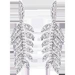 Cercei Laurii Gloriei - aur alb de 18k și diamante
