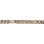 Chaîne Figaro or jaune 18 carats - 42 cm
