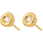 Chalice diamond stud earrings