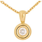 women Chalice drop pendant yellow gold - 0.23 carat