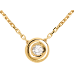 women Chalice necklace yellow gold