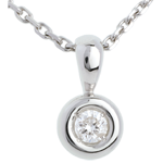 Chalice pendant diamond bow
