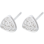 weddings Cinematic White Gold and Diamond Earrings
