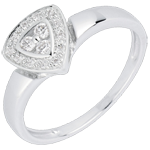 Cinematic White Gold and Diamond Ring