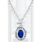 Ciondolo Abbondanza - Clelia - oro bianco 9 carati e diamanti