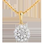 gioiello Ciondolo Caleidoscopio pavé diamanti - Oro giallo - 9 carati - 19 Diamanti - 0.19 carati