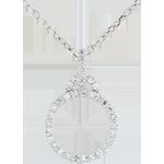 Ciondolo Dea - Oro bianco - 9 carati - 37 Diamanti - 0.22 carati