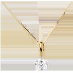 Ciondolo - La mia stella - Oro bianco e Oro giallo - 18 carati - Diamante - 0.51 carati