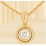 Ciondolo Punto luce - Calice - Oro giallo - 18 carati - Diamante - 0.23 carati