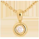 regali Ciondolo Punto luce - Calice - Oro giallo - 18 carati - Diamante - 0.14 carati