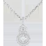 Ciondolo Scarlet - Oro bianco - 9 carati - 31 Diamanti - 0.19 carati