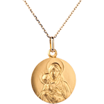 Classic medal of the Blessed Virgin and child - 18mm