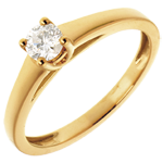 Classic Solitaire Ring in Yellow Gold - 0.25 carat