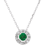 gold jewelry Clévia Emerald Necklace