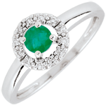 gifts women Clévia Emerald Ring - 18 carats