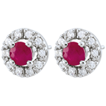 gift women Clévia Ruby Earrings - 18 carats