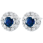 gift woman Clévia Sapphire Earrings - 18 carats