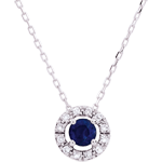 gift woman Clévia Sapphire Necklace - 18 carats
