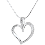 Colgante artey-corazón - 10 diamantes